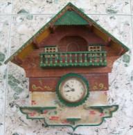 GERMAN WALL CLOCK-BLACK FOREST-?? MECHANIC,NO CUCKOO - Clocks