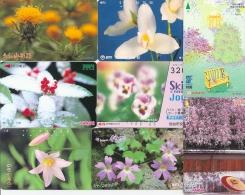 Japon - Thème Fleurs - Lot De 15 Cartes Différentes - Telefoonkaarten