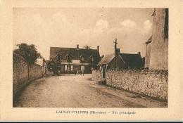 CPA 53 LAUNAY-VILLIERS RUE PRINCIPALE Petit Village - France