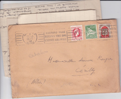 ALGERIE - 1948 - LETTRE 2° ECHELON (44g) De ALGER Pour CERILLY - MARIANNE D´ALGER 2F40 RARE SUR LETTRE - Algeria (1924-1962)