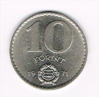 - HONGARIJE  10 FORINT  1971 - Hongrie