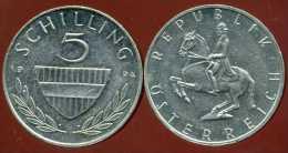 AUTRICHE  5 Schilling  1994 - Oostenrijk