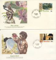 3 FDC's Fiji (1980) - Fiji (1970-...)
