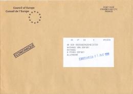 Frankreich Straßburg CTC Port Paye 1995 Europarat - Poststempel (Briefe)