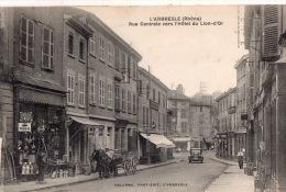 """L´ARBRESLE  """"Rue Centrale Vers L'hotel Du Lion D'Or"""" - L'Arbresle"""