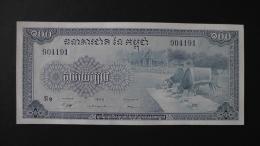 Cambodia - 100 Riels - 1956-72- P 13b - Unc - Look Scan - Kambodscha