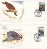 2 X FDC Micronesia - Micronesië