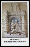 Xsa-12015 I SANTI VESCOVI GILDARDO DI ROUEN E MEDARDO SAINT QUENTIN POITIERS Santino Holy Card - Religion &  Esoterik