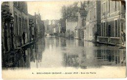 92 BOULOGNE INONDE JANVIER 1910 RUE DE PARIS - Boulogne Billancourt