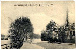 92  BOULOGNE INONDE JANVIER 1910 QUAI DU 4 SEPTEMBRE - France