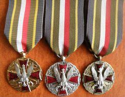 Poland 3 X Medal Of The Polish Army. Medal Wojska Polskiego. - Autres Pays