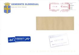Niederlande Oldenzaal Poststempel 2002 Gemeinde Wappen - Marcofilie - EMA (Print Machine)