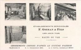 LES ARCS ETABLISSEMENTS SERICOLES F. GOIRAN SERICULTURE ELEVAGE DU VER A SOIE CHINOIS MAGNANERIE RACES DU VAR 83 VAR - France
