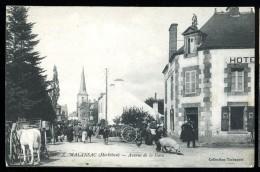 Cpa Du  56  Malansac Avenue De La Gare ...  Rochefort En Terre  Vannes    MABT05 - Rochefort En Terre