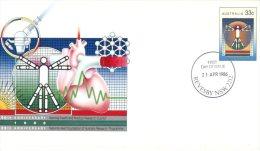 (603) Australian FDC Cover - Premier Jour - 1986 - Heart Foundation - Premiers Jours (FDC)