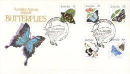 (603) Australia FDC Cover - Premier Jour - 1983 - Butterflies Series III - FDC