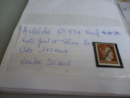 AUTRICHE N° 534 NEUF *** - 1918-1945 1st Republic