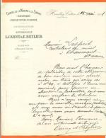 """52 - Heuilley Cotton  """" Courrier Canal De La Marne A La Saone - Heuilley Cotton A Villegusien """"  1901 - Transports"""