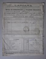 Bolla Di Spedizione 1895 LARIANA Società Anonima In Como Per La Navigazione A Vapore. - Non Classificati