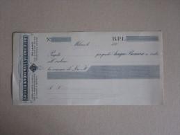 """Assegno Bancario """"Società Anonima It.Vernicolor MILANO. B.P.L."""" Anni'20 - Fatture & Documenti Commerciali"""