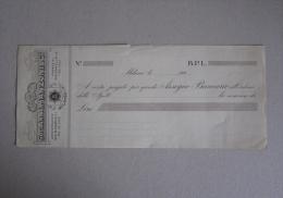 """Assegno Bancario """"Società AnonimaA.Manzoni & C. MILANO. B.P.L."""" Anni´20 - Fatture & Documenti Commerciali"""