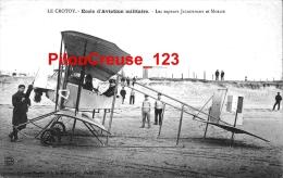 """80 Somme - LE CROTOY - THEME AVIATION  - """" Ecode D'Aviation Militaire - Les Sapeurs JACQUEMART Et MORIZE """" - Le Crotoy"""