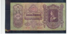 UNGARN  ,  HUNGARY  , 1930  Juli 1  , ( 100 )  Szaz Pengö   ,  Pick # 98  ,  Gebraucht - Ungarn
