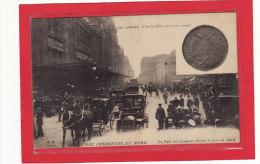 PARIS (75000) / EVENEMENTS / GREVES/GREVE DES CHEMINOTS DU NORD/La Foule Des Voyageurs Devant La Gare Du Nord/Animation - Grèves