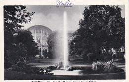 Italy Torino Giardini Pubblici di Piazza Carlo Felice