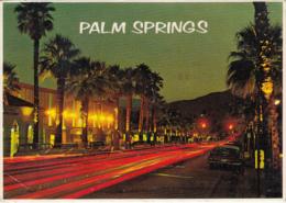 CPA PALM SPRINGS- BOULEVARD BY NIGHT - Palm Springs