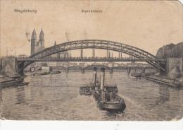 CPA  MAGDEBURG- STERN BRIDGE, SHIPS - Magdeburg