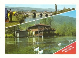 Cp, Bosnie, Sarajevo, Multi-Vues, écrite 1989 - Bosnie-Herzegovine