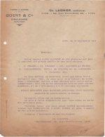 54 DIEULOUARD COURRIER 1921 FORGES & ACIERIES GOUVY & Cie  Représentant LAIGNIER * K27 - Francia