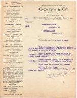 54 DIEULOUARD  HOMBOURG HAUT  ARC LES GRAY  COURRIER 1924 FORGES & ACIERIES GOUVY & Cie  * K27 - Francia