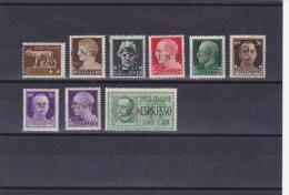 ITALIE 1944-GNR-N°1/6-8/10-EXPRESS N°1 -NEUFS** (MNH) COTE YVERT ET TELLIER:77 EUROS. - 4. 1944-45 Repubblica Sociale