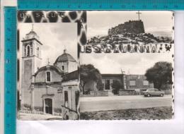 AB16673 USSARAMANNA SALUTI DA VEDUTE CHIESE AUTO MONUMENTO AI CADUTI BANDIERE - Italy