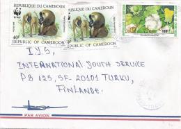 Cameroon Cameroun 1990 Garoua Depart WWF Drill Monkey Ape Cotton Cover - W.W.F.