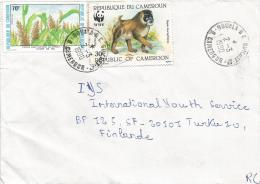 Cameroon Cameroun 1990 Douala RC Guichet 17 WWF Drill Monkey Ape Maize Cover - W.W.F.