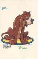 CPA Walt Disney, Bruno Pour La Pub Du Chocolat Tobler - Other