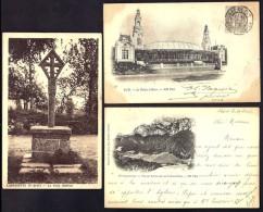 LOT 3 CPA ANCIENNES- FRANCE- 2 PRECURSEURS PAU + CHARTREUSE ET LABESSETTE LA CROIX GOTHIQUE EN GROS PLAN- 2 SCANS - 5 - 99 Postcards