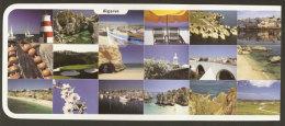 Portugal Entier Postal Algarve Multivue Golf Phare Pont Plage Postal Stationery Algarve Golf Lighthoue Beach Bridge - Golf