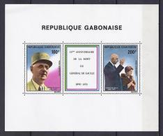 CELEBRIDADES/DE GAULLE - GABON 1980 - Yvert #H37 - MNH ** - De Gaulle (Generale)