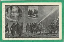 RESCUE OF WM. GIBLIN PRES MERCANTILE DEPOSIT CO. EQUITABLE LIFE BUILDING FIRE JAN 9TH 1912 ( POMPIERS) - Sapeurs-Pompiers