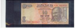 INDIEN , INDIA ,    10  Rupees   Pick # - Indien