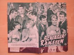 Das Neue Filmprogramm Schlagerraketen Helga Sommerfeld Heidi Brühl Lolita Peter Kraus Kino Film Programm Cinema - Magazines