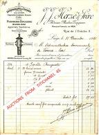Facture De 1915 - LIEGE - J. J. HERZE & Frère - Plomberie-zinguerie - Entrepreneurs De Toitures - Belgium