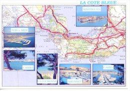 La Côte Bleur Géographique Multivues Fos Mer Martigues Carro Couronne Sausset Carry N°500/26 Pec - Other Municipalities