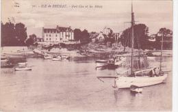 21960 ILE DE BREHAT: Le Port-Clos Et Les Hotels -71 Nozais Bateau Voilier