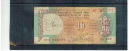 INDIEN , INDIA ,    10  Rupees   Pick #88 - Indien