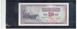 JUGOSLAWIEN , YUGOSLAVIA ,  20 Dinara ,  Pick #88      ,    12.8.1978 - Yugoslavia
